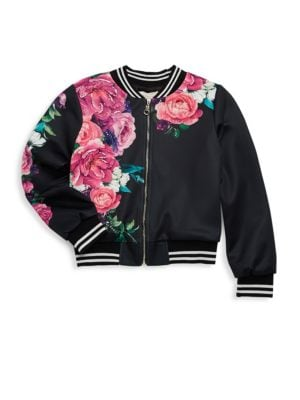 Little Girls and Girls Floral Jacket
