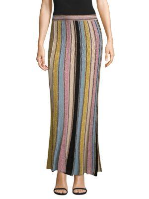 Vertical Stripe Crochet Skirt by M Missoni