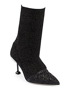 Miu Miu - Cap Toe Sock Booties
