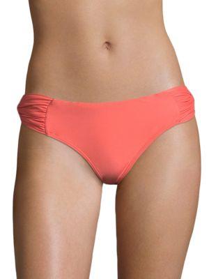 6 SHORE ROAD Backyard Bikini Bottom in Hot Coral