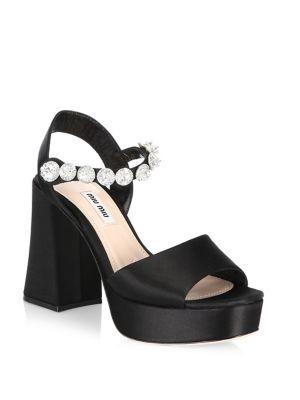 Miu Miu  Ankle Strap Platform Sandals
