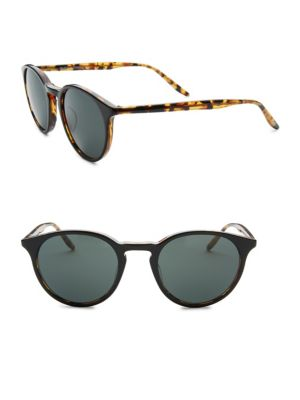 Image of Complete your style with these sunglasses.22mm bridge width, 49mm lens width, 148mm temple length.100% UV protection. Saddle nose bridge. Plastic/metal. Imported.