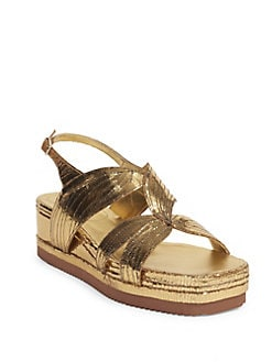 1e34dde73878 Dries Van Noten. Leather Platform Sandals