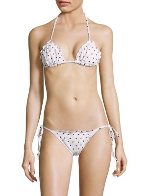 Eberjey Polka Dakota Triangle Bikini Top