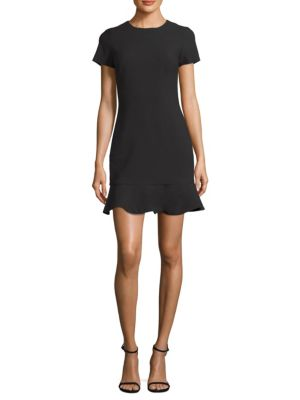 LIKELY Beckett Ruffle-Hem Bodycon Dress in Black