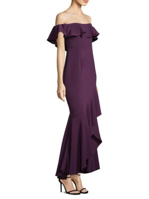 Cabrera Ruffle Off The Shoulder Gown by Likely