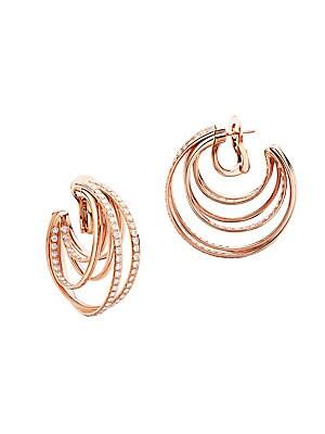 1a6cf4b51abf4 de GRISOGONO - Allegra 18K Pink Gold & Diamond Hoop Earrings