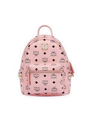 Mini Stark Visetos Side Stud Backpack by Mcm