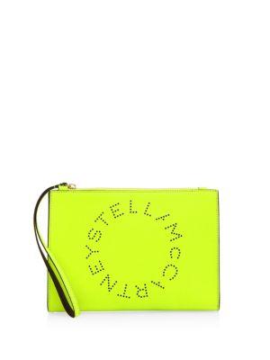 Stella Mccartney  Perforated Top Zip Wristlet