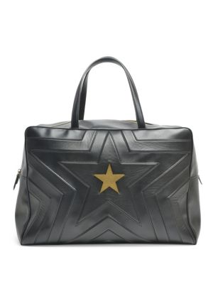 Alter Nappa Faux Leather Overnight Duffel - Black