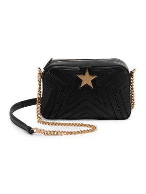Shop Stella Mccartney Faux Leather Star Crossbody Bag In Black edf9ede292c16