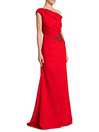 David Meister Vibrant One-Shoulder Gown on sale at Saks Fifth Avenue ...