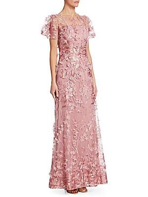 David Meister - Vibrant One-Shoulder Gown - saks.com