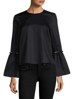 PROSE & POETRY Arleene Bell-Sleeve Top in Black