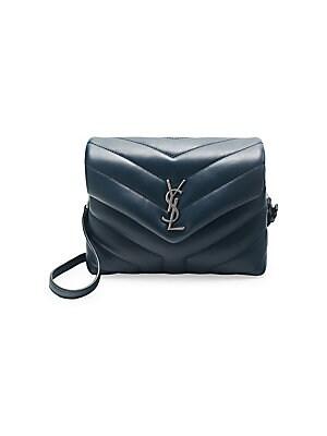 6d7b7b74398 Saint Laurent - Medium Lou Lou Chevron Quilted Leather Crossbody Bag ...
