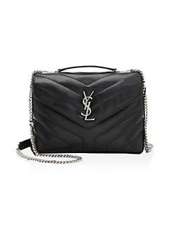 f6257352b2 Saint Laurent. Small Loulou Matelassé Leather Shoulder Bag