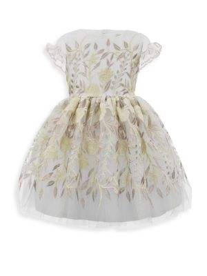 Toddlers  Little Girls Floral Embroidered Tulle Dress