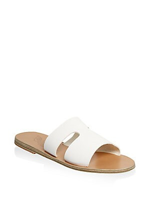 a9d0f4e092c5 Ancient Greek Sandals - Apteros Leather Slide Sandals - saks.com