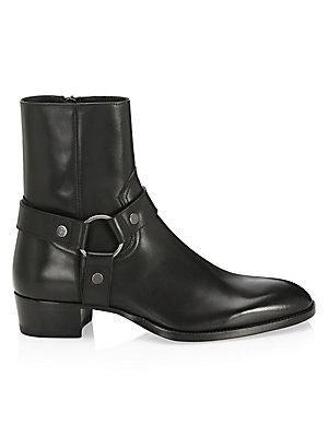 Palm Angels Black Wyatt Harness Boots kKAZg8