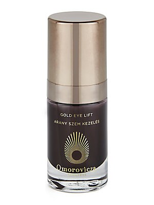 Image of This Gold Eye Lift reduces the depth and appearance of fine lines and wrinkles, renews elasticity, brightens tone and corrects sun damage in the delicate eye area. 0.5 oz. Imported. Cosmetics - Treatment Brand. Omorovicza.