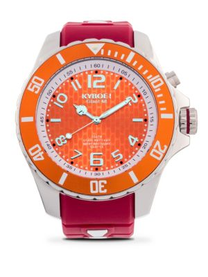 Kyboe Stainless Steel Virginia Tech Hokies Strap Watch