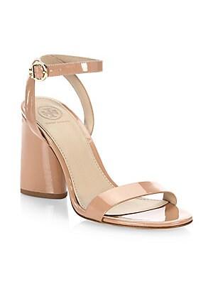 4dfd4a5f2e1 Stuart Weitzman - Nearlynude Patent Leather Block Heel Sandals ...