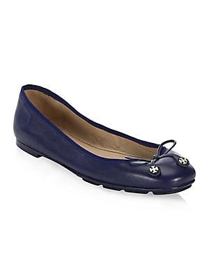 6dc7cdf6f16 Salvatore Ferragamo - My Joy Leather Ballet Flats - saks.com