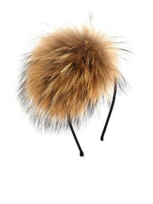 Girls Fox Fur Crystal Headband