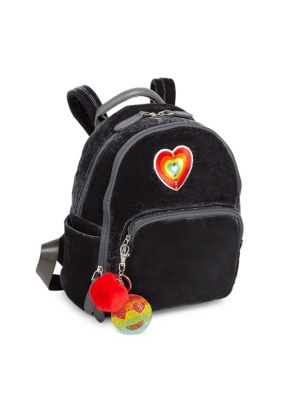 Velvet Patchwork Backpack
