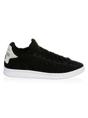 Men'S Shishu Stan Embroidered Lace Up Sneakers, Black