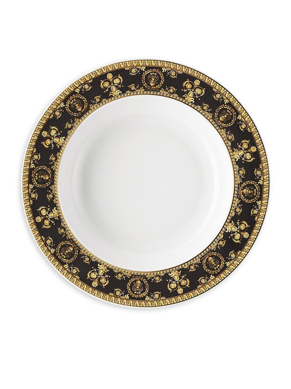 Versace By Rosenthal I Love Baroque Nero Rim Soup In Black