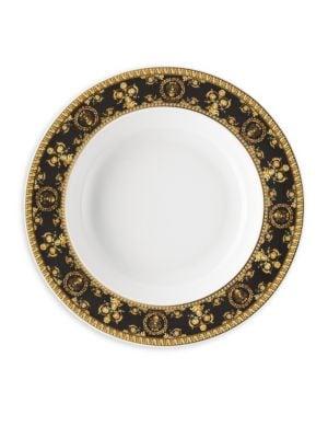 Versace I Love Baroque Nero Rim Soup Plate