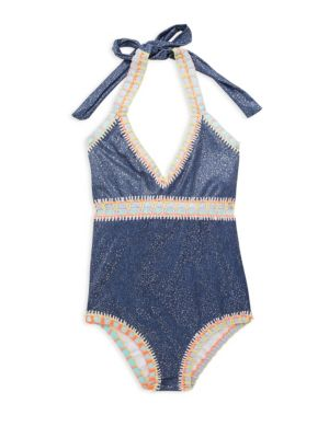 Toddlers Little Girls  Girls Embroidered OnePiece Swimsuit