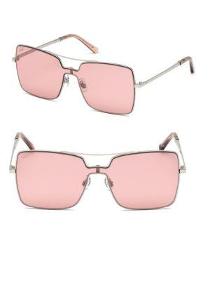 Web Metal Shield Square Sunglasses