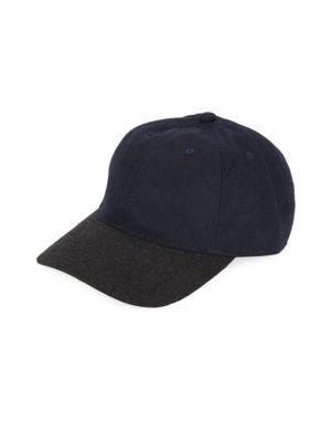 BLOCK HEADWEAR Colorblocked Baseball Cap in Black