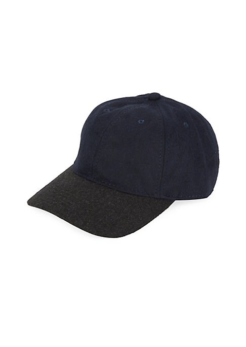 "Image of A contemporary contrast brim updates a classic six-panel baseball cap. Brim, about 7"".Polyester/wool/acrylic/other fibers. Imported."