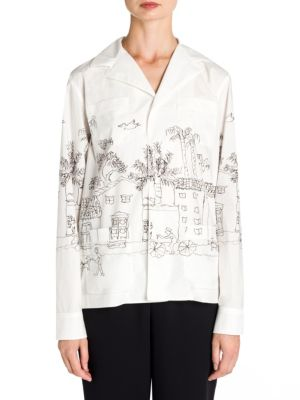Cotton Poplin Artist Jacket in White
