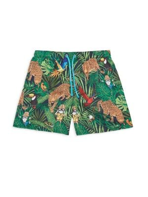 Toddlers  Little Boys Safari Swim Boxer Shorts