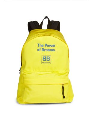 BALENCIAGA The Power Of Dreams Nylon Backpack in Yellow