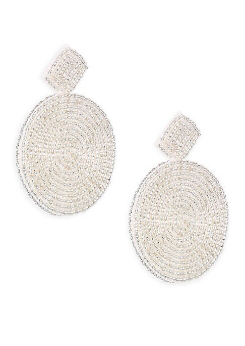 """Image of From the Holiday 2017 Collection. Drop earring in lovely gold circles with diamond shape accent. Resin/metal base. Drop, 2.5"""".Post back. Imported."""