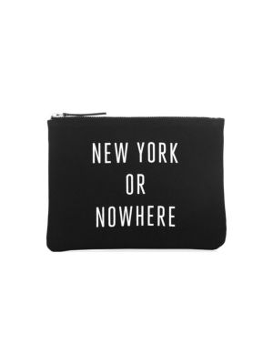 Signature Saks Knowlita Graphic Pouch