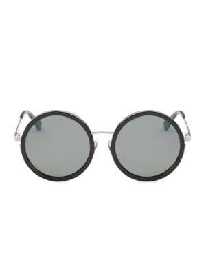 136 Zero 52Mm Round Sunglasses in Black