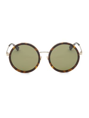 136 Zero 52Mm Round Sunglasses in Avana