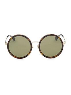177024b488 Saint Laurent. 136 Zero 52MM Round Sunglasses