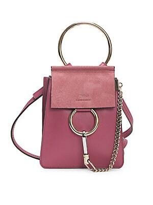 826874dc199b9 Chloé - Mini Faye Leather Bracelet Bag - saks.com