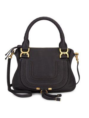 Chloé Women's Small Marcie Leather Satchel In Black