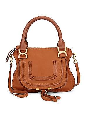 298eeb18afbb Chloé - Medium Marcie Python-Print Leather Satchel - saks.com