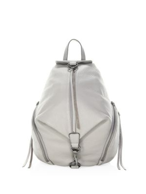 Mini Julian Nubuck Leather Convertible Backpack - Grey