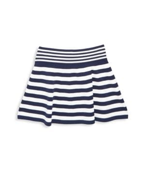 Toddlers Little Girls  Girls Striped Ottoman Skirt