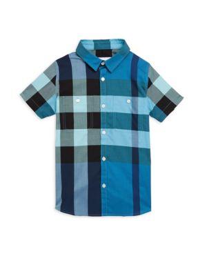 Little Boys  Boys Mini Camber Cotton ButtonDown Shirt